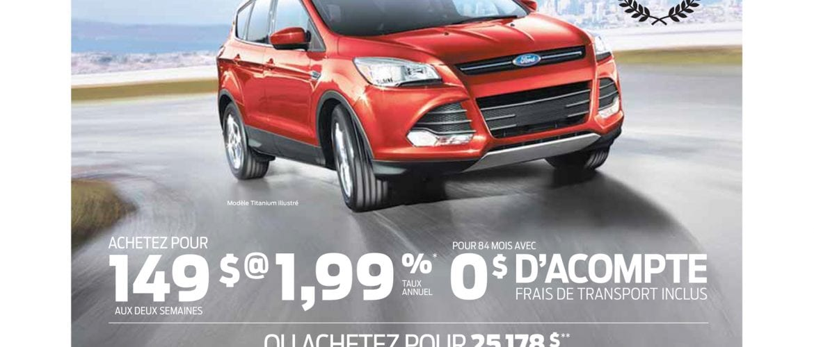 Promotion Ford Escape 2014 – Mai et Juin 2014